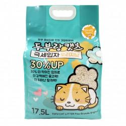 韓國 豆腐與貓 - 極幼條(1.5mm)豆腐貓砂 - 原味 17.5L x 3包 (原箱優惠)