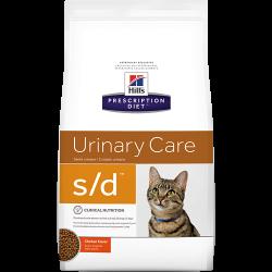 [凡購買處方用品, 訂單滿$500或以上可享免費送貨]  Hill's s/d 泌尿道護理 獸醫配方 貓乾糧 4磅