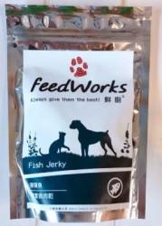 Feed Works 鮮廚 彈彈魚-鯛魚肉肉乾小食 80g (無添加, 台灣製造)