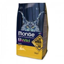 Monge 天然貓糧 - 低穀物 成貓 野生兔肉 配方 x3包