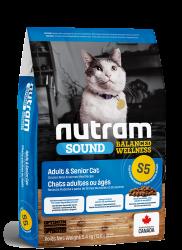 Nutram (S5) 雞肉、三文魚及扁碗豆配方 成貓糧 5.4kg