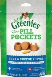 Greenies Feline pill pockets 餵藥輔助貓小食 - 吞拿魚芝士