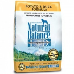 Natural Balance 無穀抗敏薯鴨狗糧12磅