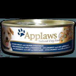 Applaws 全天然狗罐頭 雞,三文魚,菜 156g