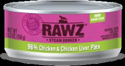 RAWZ 96% 雞肉及雞肝 全貓罐頭 156g x24罐優惠