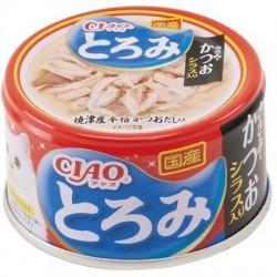 CIAO A45 帶子濃湯 雞肉+鰹魚+白飯魚 貓罐頭 80g