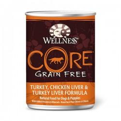 CORE 火雞、雞肝及火雞肝﹙無穀物﹚ 12.5oz Wellness