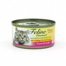 Feline Gourmet  化毛球 吞拿魚+蟹柳 80g• 豐富亞米加3,維持良好視力