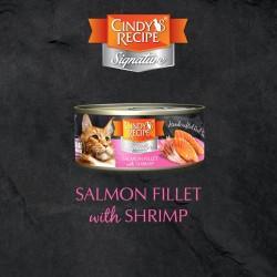 Cindy's Recipe Signature 系列 - 三文魚配鮮蝦湯 貓主食罐 70g (紫红色) x12罐 原箱優惠