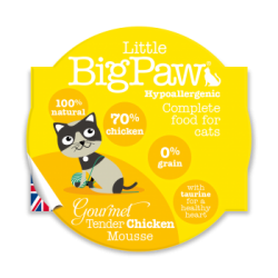 Little Big Paw 傳統雞肉貓餐盒 (mousse) 85g 原盒8個優惠