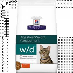 [凡購買處方用品, 訂單滿$500或以上可享免費送貨]  Hill's w/d獸醫配方貓乾糧 1.5kgs