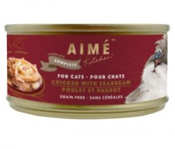 Aimé Kitchen 經典系列 汁煮滑雞配鯛魚肉  貓罐 85g (紅罐)