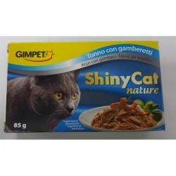 Shiny Cat 特級天然多汁 吞拿魚+蝦 貓罐頭 85g