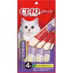 CIAO TSC-124 果凍片 雞肉+松葉蟹片 15g (15gx4)