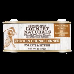 Country Naturals 無穀物 走地雞角切肉塊配方 貓罐頭 2.8oz