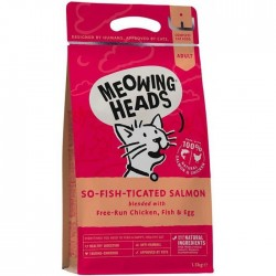 Meowing Heads - So-Fish-Ticated Salmon 全天然成貓配方(三文魚、雞肉、鮮魚) 1.5kg