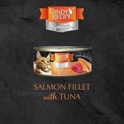 Cindy's Recipe Signature 系列 - 三文魚配吞拿魚湯 貓主食罐 70g (橙色) x12罐 原箱優惠