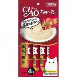Ciao SC-144 雞肉+黑毛和牛醬 綠茶消臭配方 (14gx4) x2包優惠