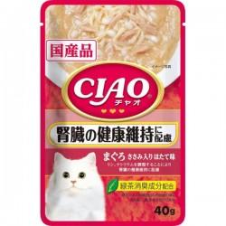 CIAO 吞拿魚 雞肉。帶子味(腎臟健康) 貓濕包 40g IC-321