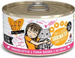 b.f.f. 罐裝系列 吞拿魚+三文魚 肉凍 156g (Soulmates) 到期日: 31/8/2021