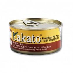 Kakato 卡格 雞, 牛肝, 蔬菜 Chicken, Beef Liver & Vegetables 170g