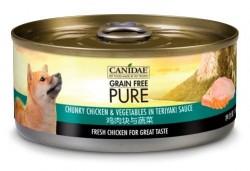 購物滿$300, 可以以$20換購<<Canidae Pure 無穀物 雞肉塊與蔬菜 狗罐頭 156g>>