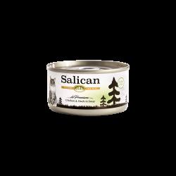 Salican 挪威森林 鮮雞肉鴨肉(清湯) Chicken & Duck in Soup 貓罐頭  85克