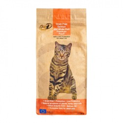 Gold-D 無穀物三文魚、白魚成貓糧 2kg