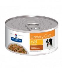 [凡購買處方用品, 訂單滿$500或以上可享免費送貨]  Hill's c/d 狗隻泌尿道健康處方 狗罐頭 5.5oz x24罐 原箱優惠