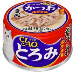 CIAO 雞胸+鰹魚+帶子 (綠茶消臭配方) 貓罐頭 80G  A-44 x24罐優惠