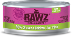 RAWZ 96% 雞肉及雞肝 全貓罐頭 156g