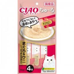 Ciao SC-120 吞拿魚 & 海膽 鰹魚+雞肉醬 (內含4小包) x2包優惠