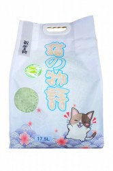 貓之物語 (綠茶味) 3.0mm粗條天然豆腐砂 17.5L x3包 (共一箱)