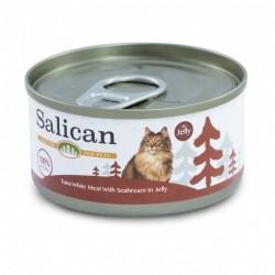 Salican 挪威森林 白肉吞拿魚+鯛魚 啫喱貓罐頭  85克