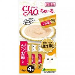 Ciao SC-102 雞肉+北寄貝+鰹魚醬 14g (14g x4)