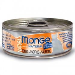 Monge 野生海魚系列 - 黃鰭吞拿魚配三文魚 貓罐頭 80g