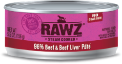 RAWZ 96% 牛肉及牛肝 全貓罐頭 156g