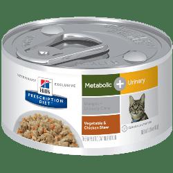 [凡購買處方用品, 訂單滿$500或以上可享免費送貨]  Hill's Metabolice+Urinary 體重+泌尿護理 (雞肉燉蔬菜) 處方貓罐頭 2.9oz x24罐 原箱優惠