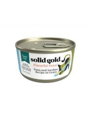 Solid Gold 吞拿魚+沙甸魚 肉醬貓罐 3oz