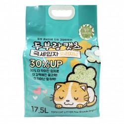 韓國 豆腐與貓 - 極幼條(1.5mm)豆腐貓砂 - 綠茶 17.5L x 3包 (原箱優惠)