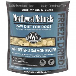 Northwest Naturals Whitefish and Salmon Recipe Freeze-Dried Dog Food 脫水白魚+三文魚凍乾犬糧 340g 到期日: 13/01/2021