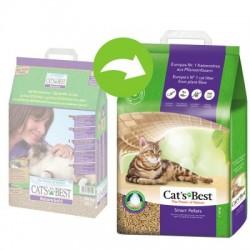 Cat's Best 不黏毛黏結木貓砂 20L (10kg / 紫色)  x2包優惠