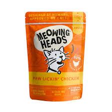Meowing Heads - Paw Lickin' Chicken 貓頭 無穀物貓用濕食包 (93%放養雞肉+草飼牛), 100g