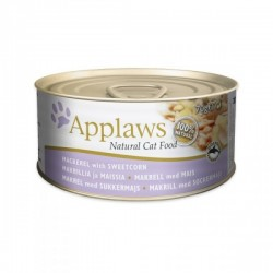 Applaws 鯖魚 & 粟米 天然成貓罐頭 70g