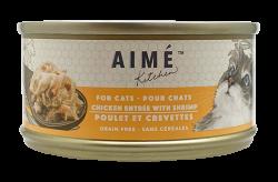 Aimé Kitchen 雞肉配蝦仁Chicken with Shrimp 貓罐 85g x24罐優惠