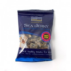 Fish4Dogs 純魚皮方塊 (中粒) Sea Jerky Squares FF 100g