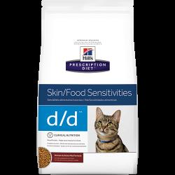 [凡購買處方用品, 訂單滿$500或以上可享免費送貨]  Hill's d/d 皮膚/食物敏感 (鹿味) 獸醫配方 貓乾糧 3.5磅 到期日: Aug 2021