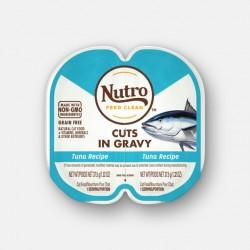 Nutro FEED CLEAN™ 吞拿魚肉汁 貓罐頭 (1盒2格各37.5g) <淺藍色>