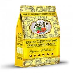 AVP 鮮肉無穀物蔬果 雞肉+三文魚迷你顆粒 幼犬糧 4磅