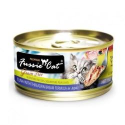 Fussie Cat 吞拿魚+鯛魚 貓罐頭 80g